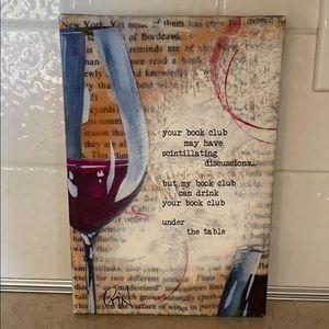 Book Club wall hanging/art
